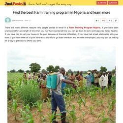 Find the best Farm training program in Nigeria and learn more