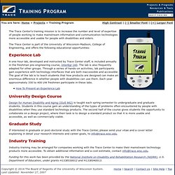 Trace Center Training Program