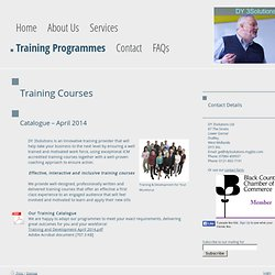 Training Programmes - DY 3Solutions Ltd