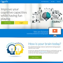 Brain Training, Brain Games And Memory Programs, Brain Fitness - CogniFit