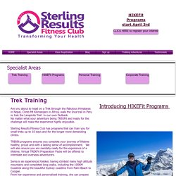 Trek Training Programs Sydney for Nepal and High Altitude Mountains