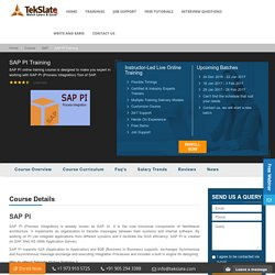SAP PI Training Online With Live Projects And Job Assistance