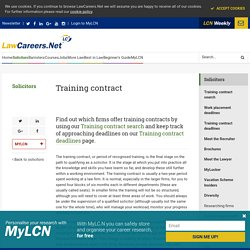Training contract - Solicitors