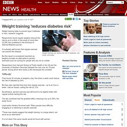 Weight training 'reduces diabetes risk'
