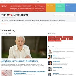 Brain training News, Research and Analysis - The Conversation