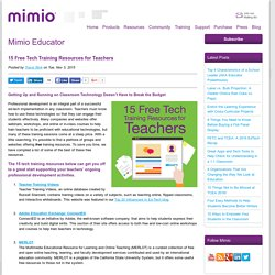 15 Free Tech Training Resources for Teachers