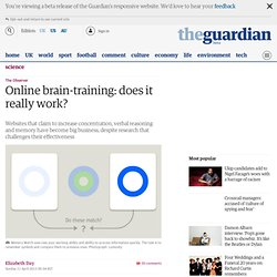Online brain-training: does it really work?