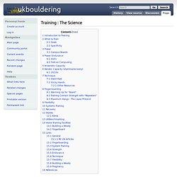 Training : The Science - UkBouldering