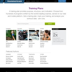 Training Plans - Search by Type or Author | TrainingPeaks