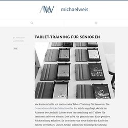 Tablet-Training für Senioren