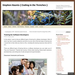 Stephen Haunts { Coding in the Trenches }