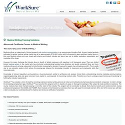 Medical Writing Training Solutions - WorkSure™