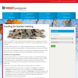 Funding for teacher training