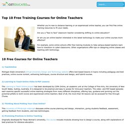 Top 10 Free Training Courses for Online Teachers