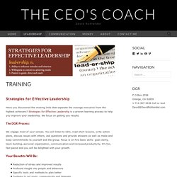 Join Effective Executive Leadership Training