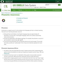 Training : UO DIBELS Data System