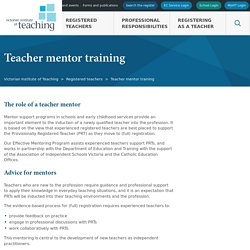 Teacher mentor training - Victorian Institute of Teaching