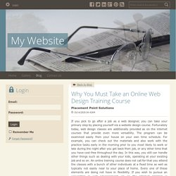Why You Must Take an Online Web Design Training Course