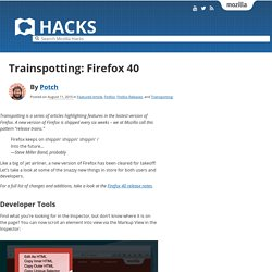 Trainspotting: Firefox 40