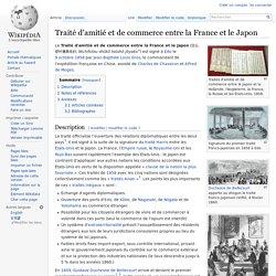 Traité d'amitié et de commerce entre la France et le Japon