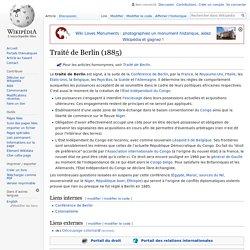 Traité de Berlin (1885)