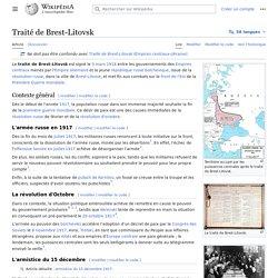 Traité de Brest-Litovsk