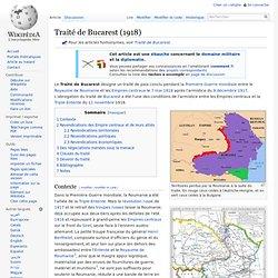 07/05/1918 Traité de Bucarest
