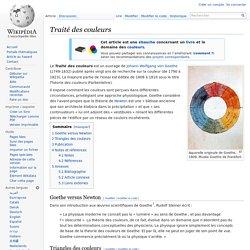 Traité des couleurs (☼ B)