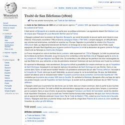 Traité de San Ildefonso (1800)