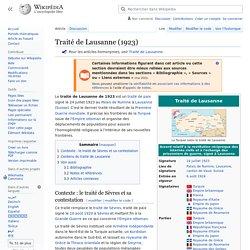 24/07/1923 Traité de Lausanne remplace le Traité de Sèvre du 10/08/1920