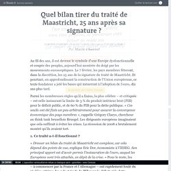 Le traité de Maastricht fête ses 25 ans en catimini