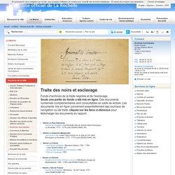 Fonds d'archives de la traite négrière et de l'esclavage-La Rochelle