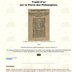 traité d'or sur la pierre des philosophes