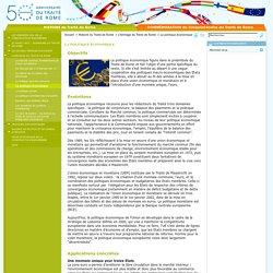 Traité de Rome : La politique économique