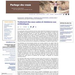 Traitement des eaux usées et résistance aux antibiotiques