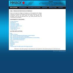 Traitement et Recyclage de RBA : Résidus de Broyage Automobile