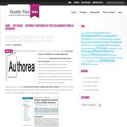 Authorea. Traitement de texte collaboratif pour la recherche