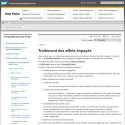 Traitement des effets impayés - Comptabilité bancaire (FI-BL)