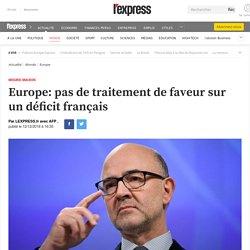 Europe: pas de traitement de faveur sur un déficit français