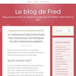 Le traitement documentaire des ressources numériques ou des ressources papiers – Le blog de Fred