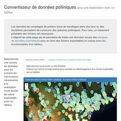 Traitement données polliniques
