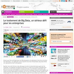 Le traitement de Big Data, un sérieux défi pour les entreprises