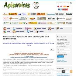 Protocole de traitement aux huiles essentielles - Activité acaricide sur le Varroa (2013)