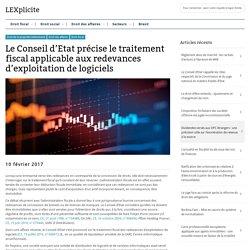 Le Conseil d'Etat précise le traitement fiscal applicable aux redevances d'exploitation de logiciels