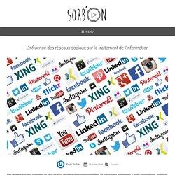 L'influence des réseaux sociaux sur le traitement de l'information - Sorb'on