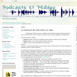 Le traitement de l'information en radio