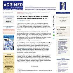 10 ans après, retour sur le traitement médiatique du référendum sur le TCE