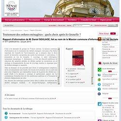 SENAT 29/06/10 Rapport d'information - Traitement des ordures ménagères : quels choix après le Grenelle ? (29 juin 2010) :