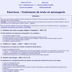 B2i - Exercices sur le traitement de texte et la messagerie