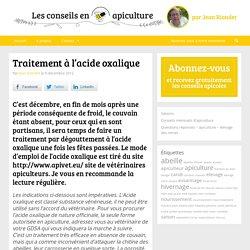 Varroa - traitement varroa - acide oxalique - GDSA